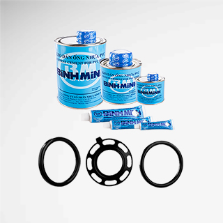 Rubber seals and solvent cements for uPVC pipes and fittings