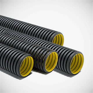 HDPE double-wall corrugated pipes